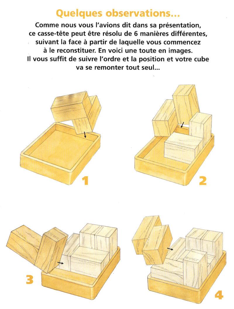 Casse-Tête - Bois - CUBE ENFERMÉ - n° 34 - Hachette Collections