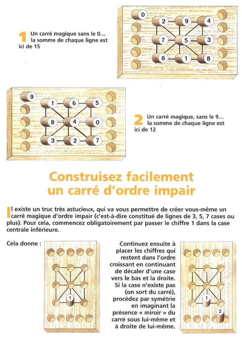 Casse-Tête - Divers - MORPION DES CHIFFRES ou CARRÉ MAGIQUE - n° 64 -  Hachette Collections